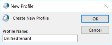 add new profile