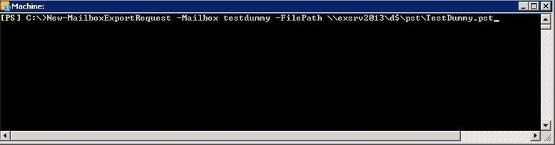 exporting mailbox to pst