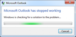 microsoft outlook stopped working