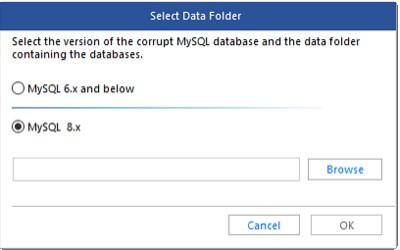 Stellar Repair for MySQL Software Main Interface