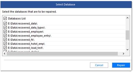 Repair MySQL Database File