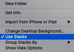 Mac Dasktop stack