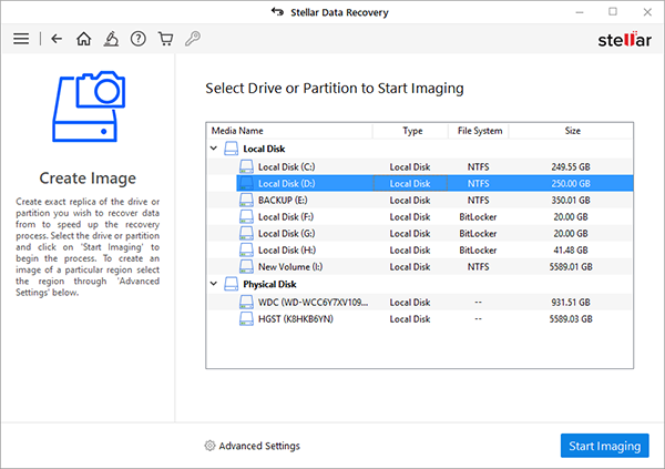 Select Partition To Recover Data