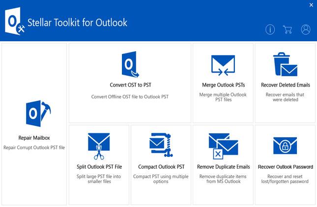 Stellar Toolkit for Outlook full screenshot