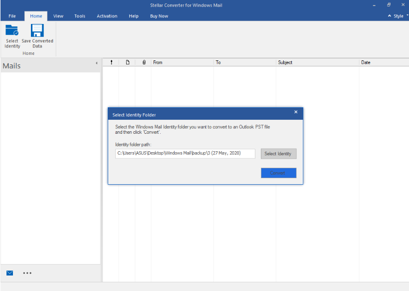 Stellar Converter for Windows Mail