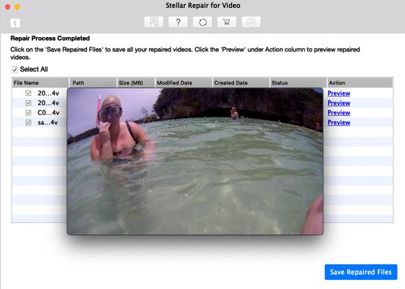 Repair videos on Mac