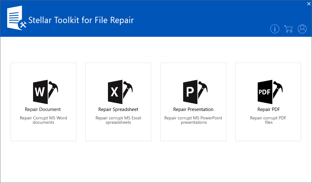 Stellar Toolkit for File Repair full screenshot