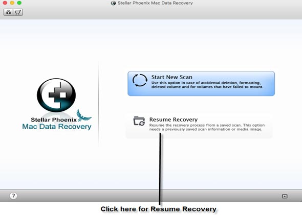 what is resume saved scan in stellar phoenix mac data recovery