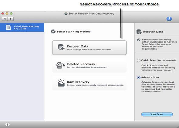 Mac Data Recovery Screenshot