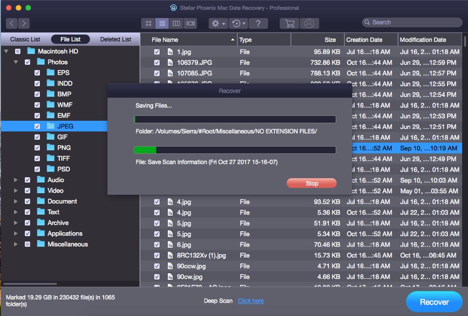 Stellar Phoenix Mac Data Recovery - Saving BootCamp Partition