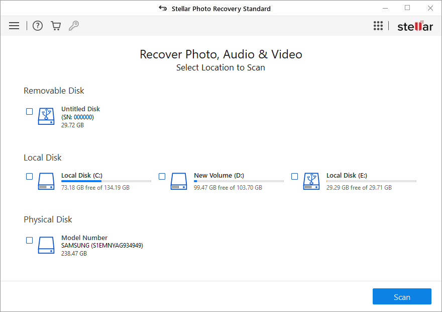Stellar Phoenix Photo Recovery (Windows)