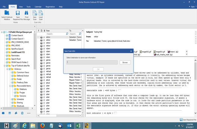 Download free scanpstexe alternative for outlook pst file step 7 access scanned information of any corrupt pst file and load the saved scan information through load scan option in the tool reheart Choice Image