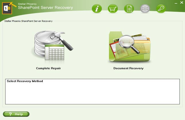 Stellar Phoenix SharePoint Server Recovery full screenshot