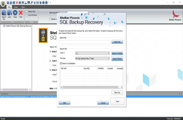 Restore inaccessible SQL Backup File