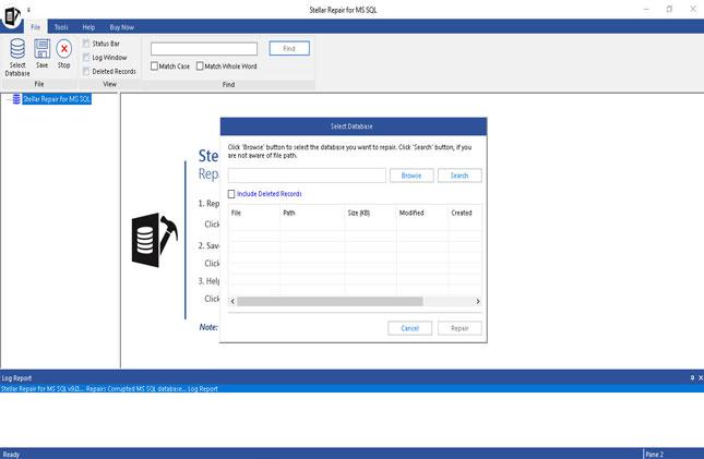 Stellar Phoenix SQL Database Repair full screenshot
