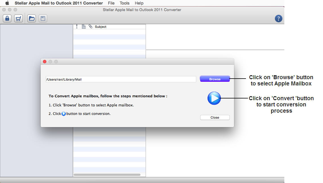 Transfer Apple Mail messages to Outlook for Mac 2011