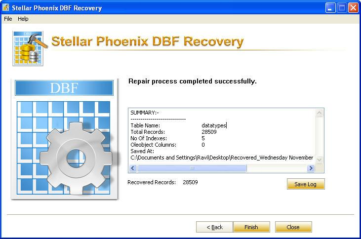 Describe the procedure to repair corrupt DBF File | Stellar KB