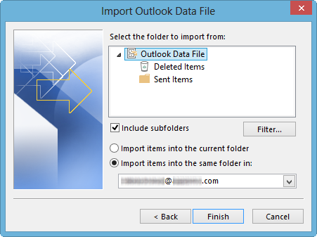 Outlook 2010 Export Pst >> How to Import Repaired PST File into MS Outlook | Stellar ...