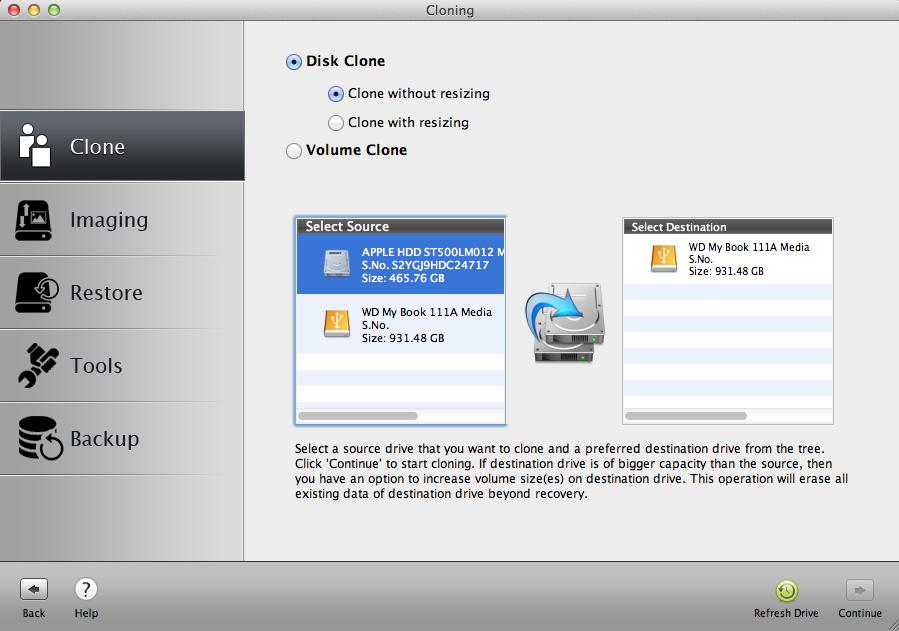 clone entire mac hard drive including boot camp