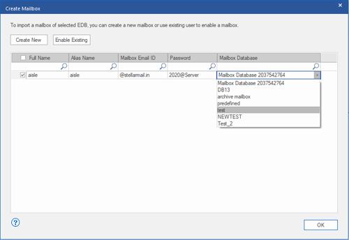 mailbox database