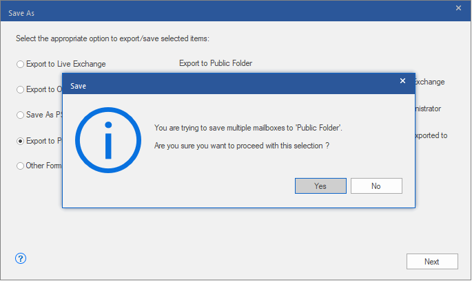 multiple mailbox to public folder