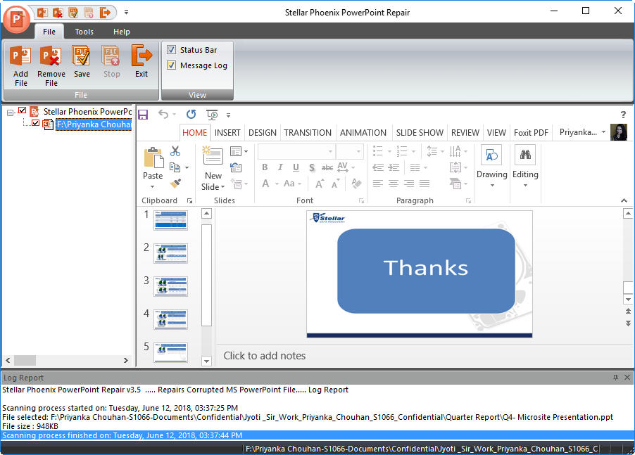 PowerPoint file preview