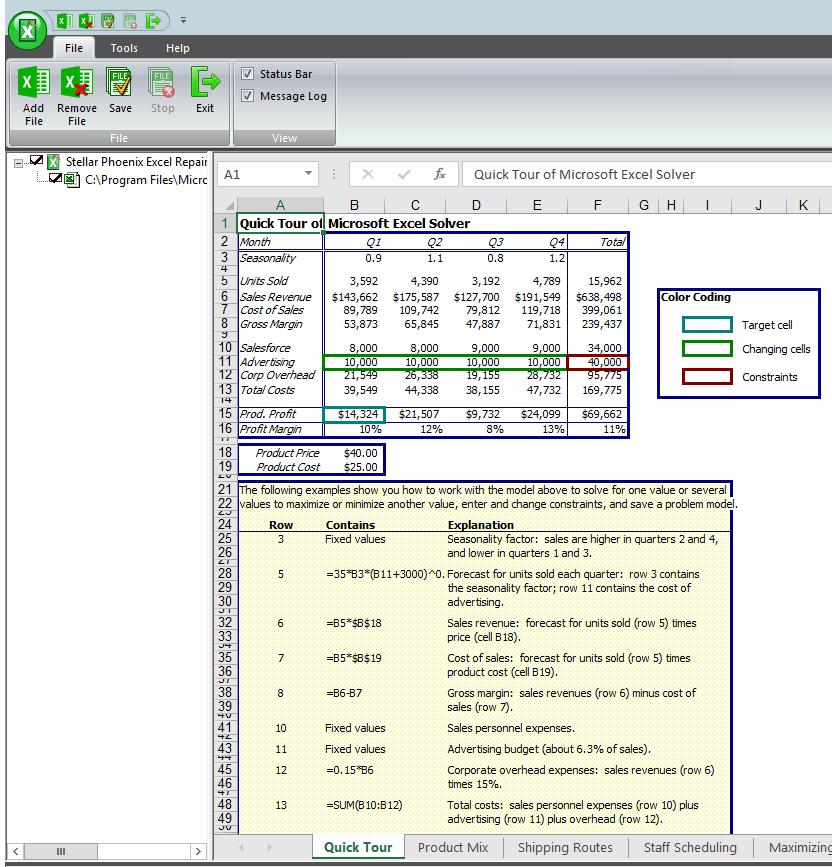 Excel repair preview