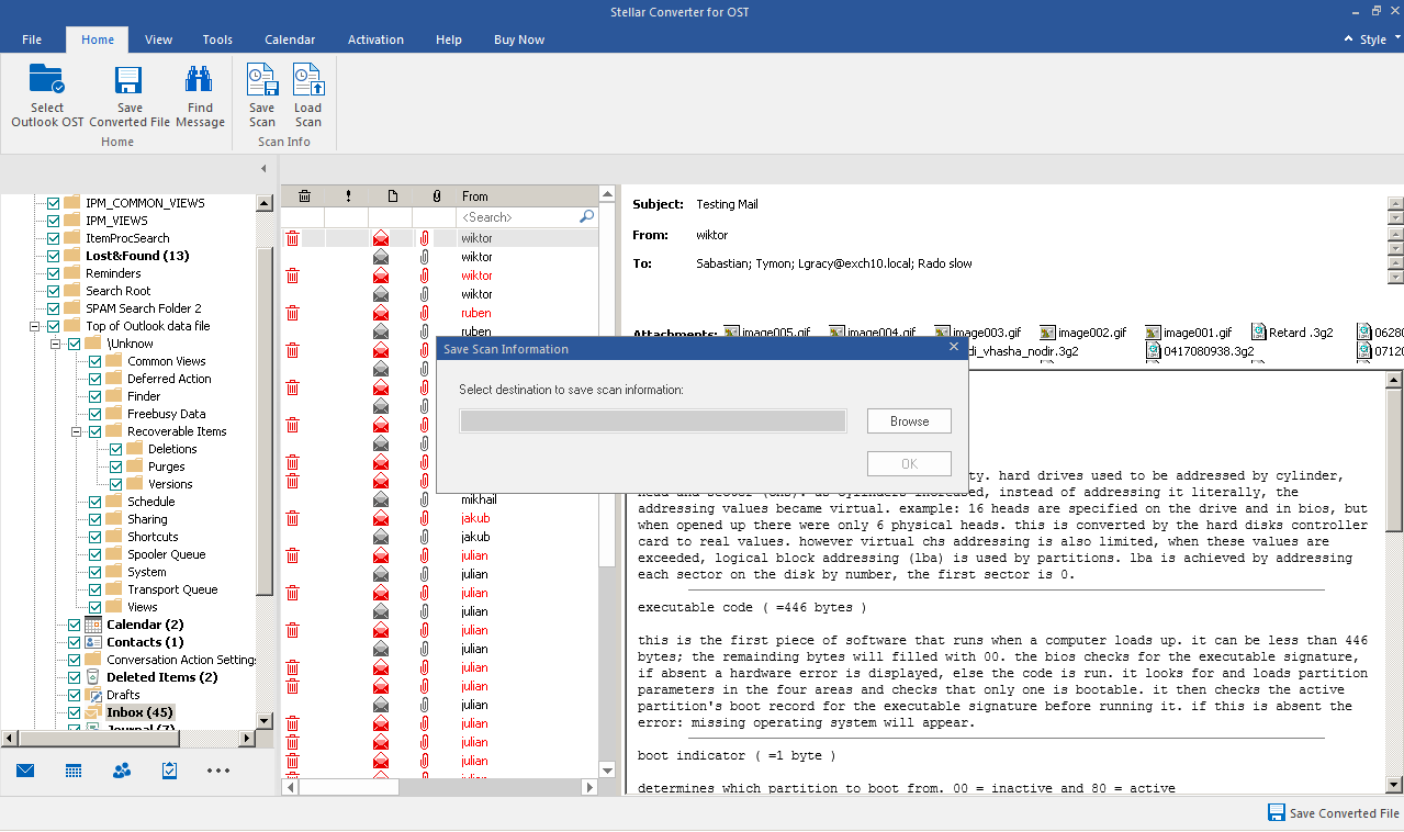 Option to Save and Load Scan information in Stellar | Stellar KB