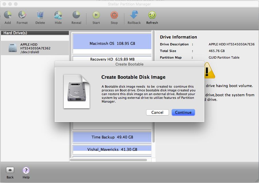 create a restore disk mac os x