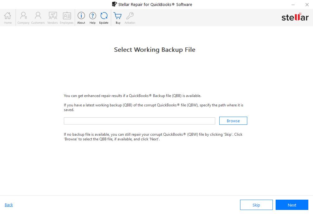Select Working Backup