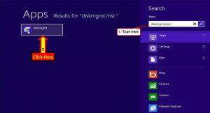 disk management in Windows 8