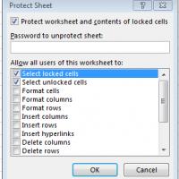 Protect Sheet