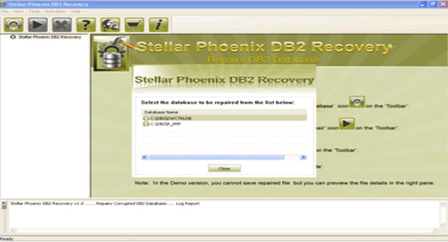 Stellar Phoenix DB2 Recovery Software Screenshot