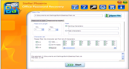 Stellar Phoenix Outlook Password Recovery Screenshot