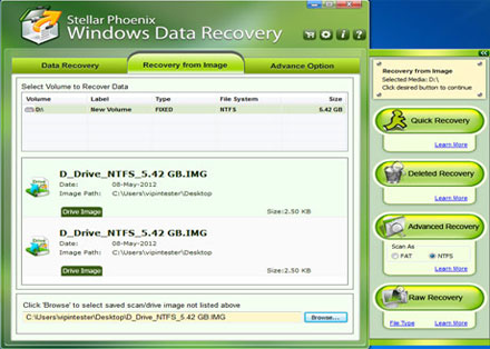 Stellar Phoenix Windows Data Recovery (Home) Screenshot